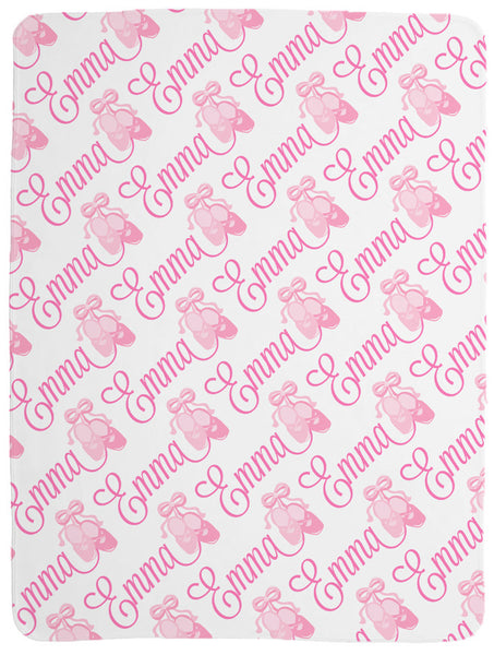 Personalized Ballerina Baby Blanket for Girls
