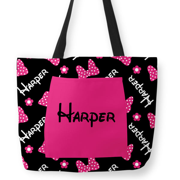 Pink Bows and Flowers Hospital Tote Diaper Bag