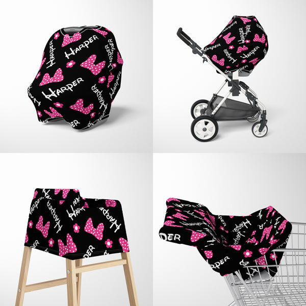 Bows & Flowers Car Seat Cover