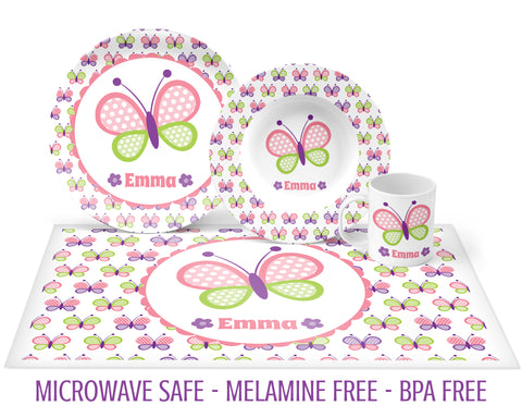 Butterfly Pastel Tableware for Girls