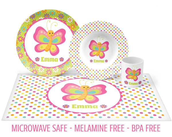 Butterfly Bright Tableware for Girls