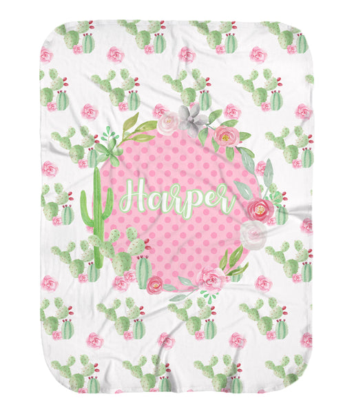 Cactus Flower Stretchy Swaddle