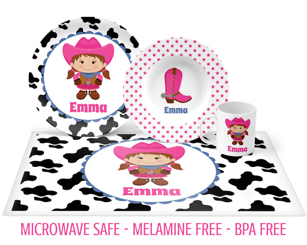 Cowgirl Tableware for Girls