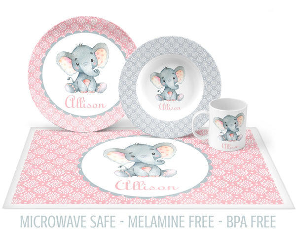 Elephant Tableware for Girls
