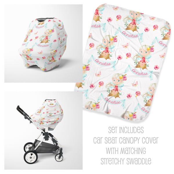 Fairy Car Seat Cover & Swaddle Set