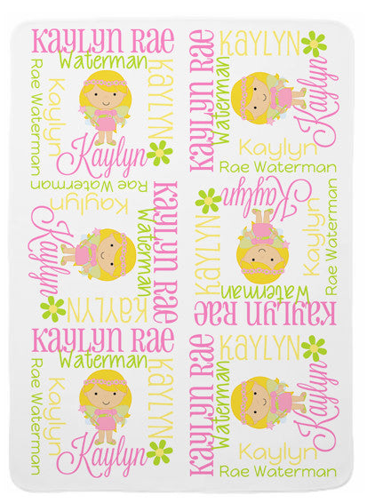 Personalized Fairy Baby Blanket for Girls