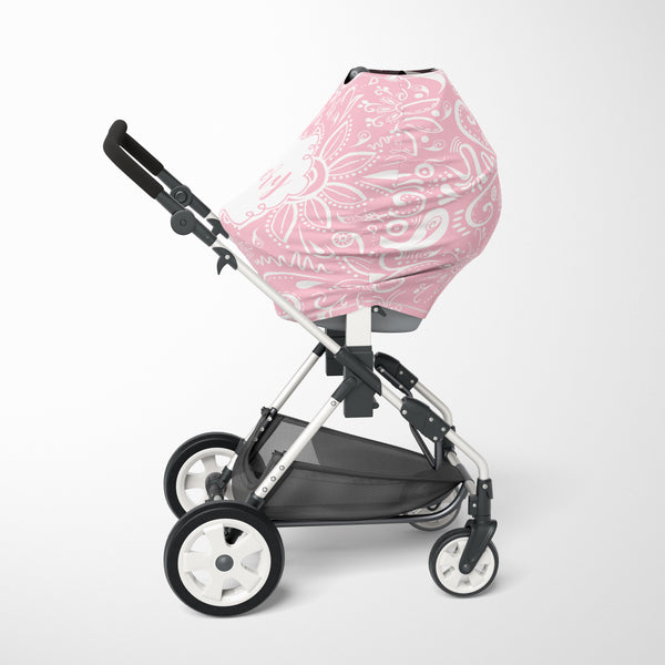 Modern Rose Pink Car Seat Cover