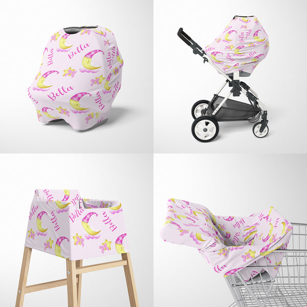 Moon Car Seat Cover for Girls
