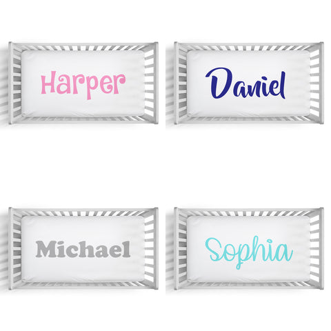 Personalized fitted crib sheet