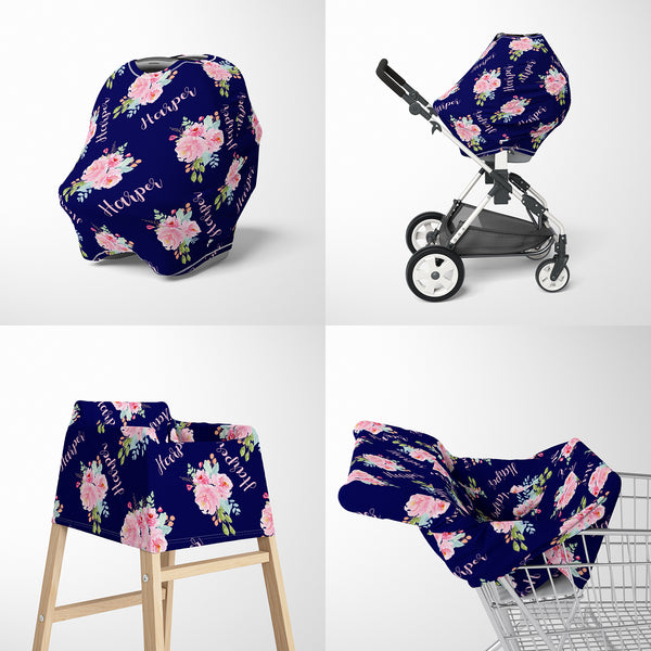 Peonies Floral Car Seat Cover