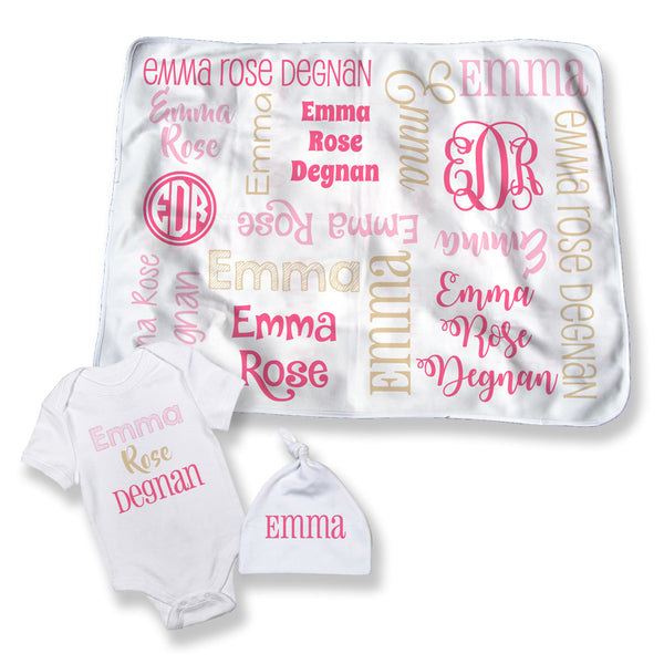 Random Name Personalized Baby Blanket