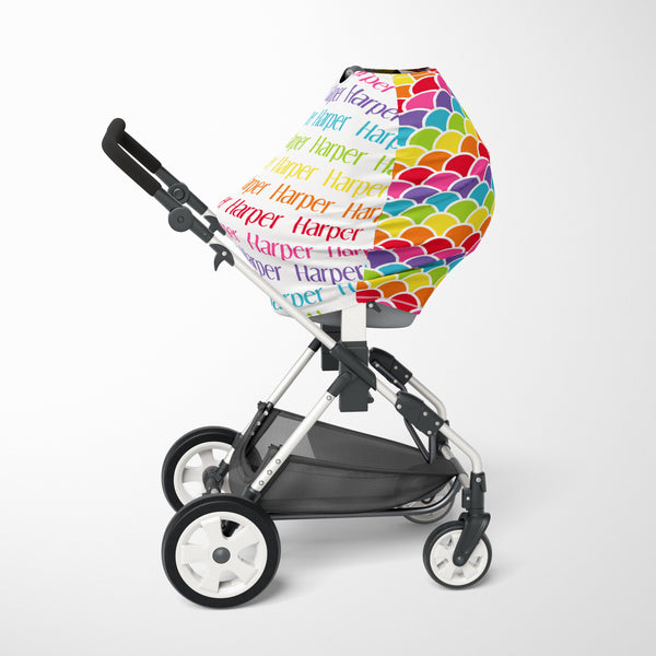Rainbow Car Seat Cover
