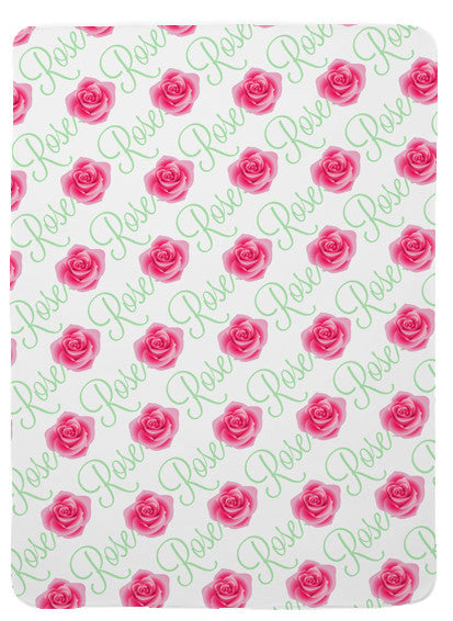 Personalized Rose Baby Blanket for Girls