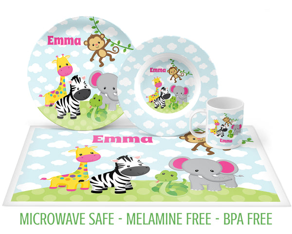 Safari Animal Tableware for Girls