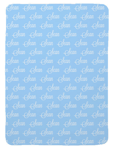 First Name Baby Blanket for Boys