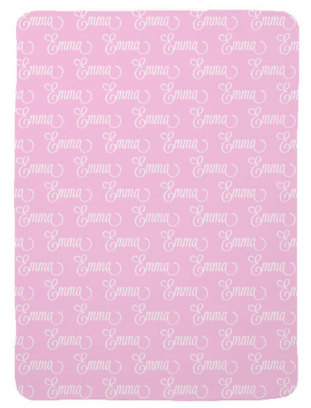 Personalized First Name Baby Blanket for Girls