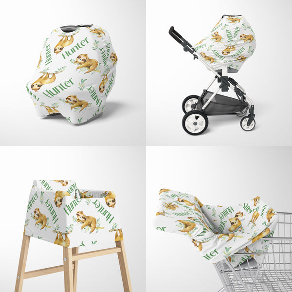 Sloth Car Seat Cover for Boys