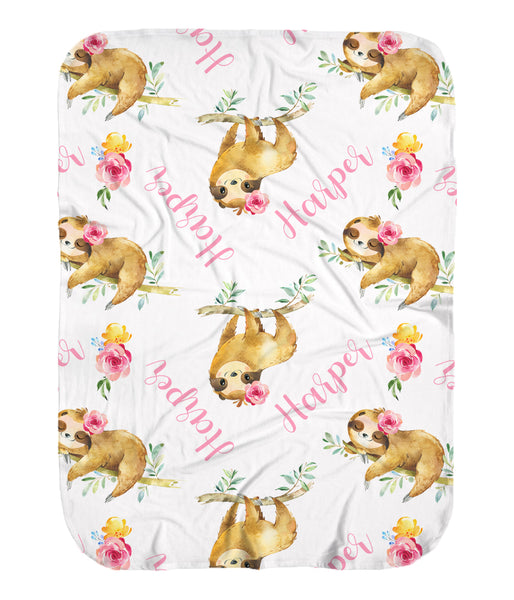 Sloth Stretchy Swaddle for Girls
