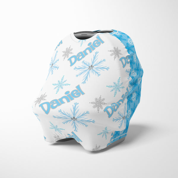 Personalized Snowflake Multi-Use Nursing and Canopy Cover