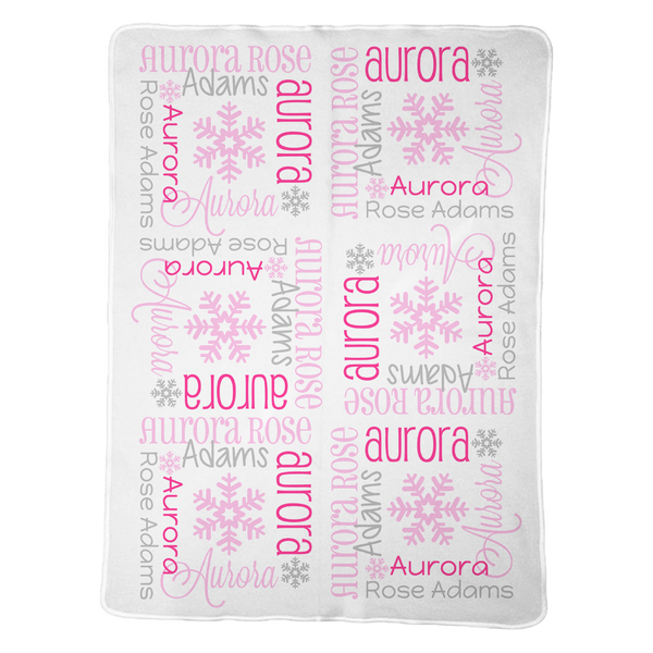 Personalized Snowflake Blanket for Girls