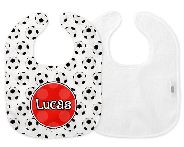 Sports (Soccer) Bib & Burp Cloth for Boys