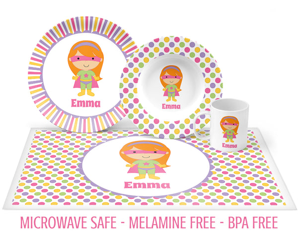 Superhero Tableware for Girls