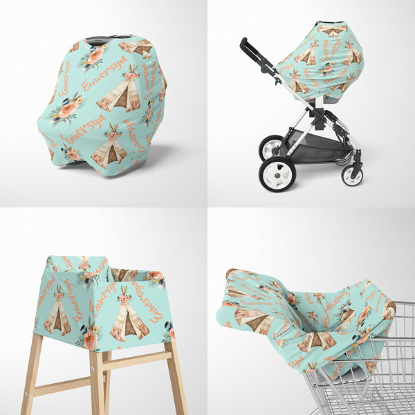 TeePee Car Seat Cover