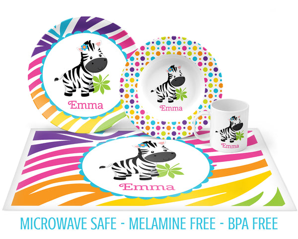 Zebra Tableware for Girls