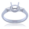 0.17 CTW Side Baguette Diamond Engagement Ring Setting In 18K White Gold -IDJ008907