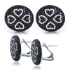3.75CTW Black and White Diamond Fashion Earrings In 18KT White Gold - IDJ009047