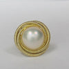 Mabe Pearl Swirl Ring In 14KT Yellow Gold -IDJ009378