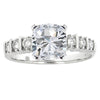 0.30 CTW Bar Set Diamond Engagement Ring Setting In Platinum - IDJ009421