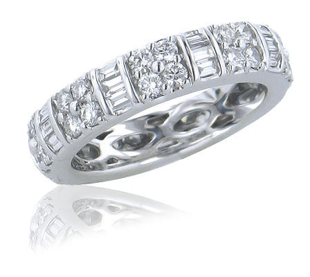 1.63 CTW Diamond Eternity Band In 18KT White Gold - IDJ009477