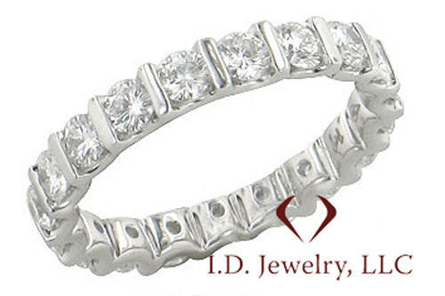 1.82 CTW Round Cut Diamond Eternity Band F SI1 -IDJ009478