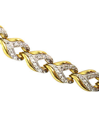 Round Cut Diamond Bracelet in 14K Yellow Gold -IDJ009844