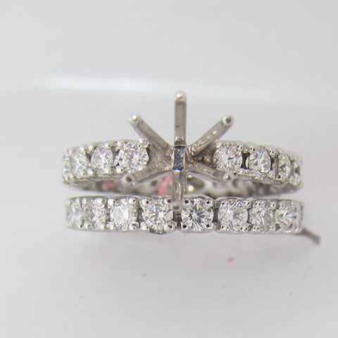 2.20ct F-G SI1 Diamond Eternity Bridal Set With 6 Prong Low Set Head -IDJ010158