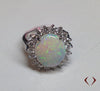 4.23CTW Oval Opal & Round Diamond Ring 14KT -IDJ010988