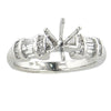 0.43CT Round and Baguette Cut Diamond Engagement Setting In Platinum - IDJ011203