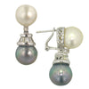 0.83 CT Diamond and Pearl Earrings F SI 18K White Gold -IDJ011243