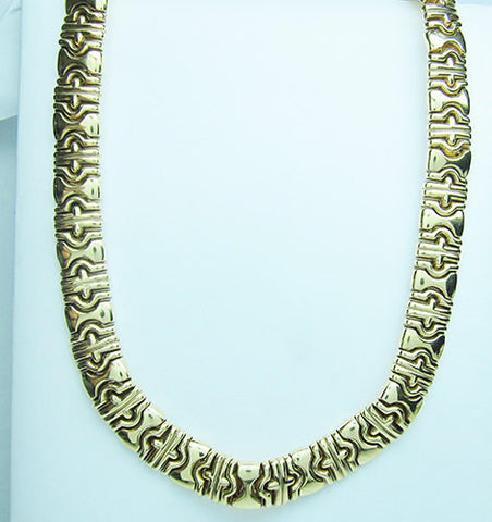 14K Yellow Gold Necklace 67 Gram Bezintine Link Style -IDJ011270