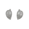 1.25CT Diamond Hanging Earrings F SI1 18K White Gold - IDJ011580