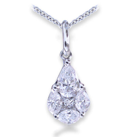 0.48ct Diamond Pendant F-G SI 18KT White Gold -IDJ011689