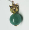 Antique Jade With Sapphires In 14K Yellow Gold - IDJ012569