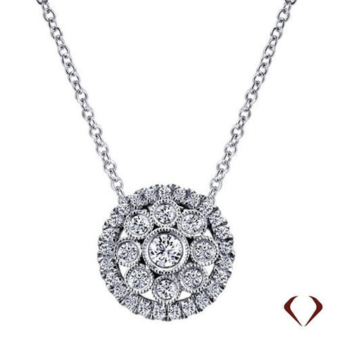0.50CT F SI Diamond Pendant 14KT -IDJ013089