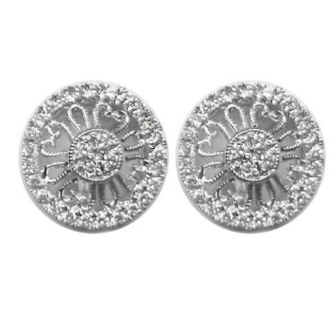 0.41CTW Diamond Earrings F SI1 in 14K White Gold -IDJ013098