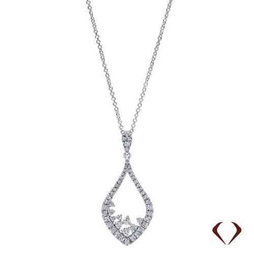 0.58CT F SI Diamond Pendant 14KT -IDJ013101