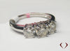 1.00CTW G-H SI Round 3 Stone Diamond Engagement Ring 14KT -IDJ013187