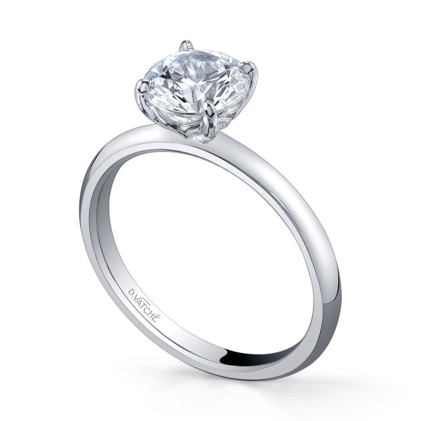 Vatche Solitaire Charis Engagement Ring For 1.5CT Center In Platinum -IDJ014077