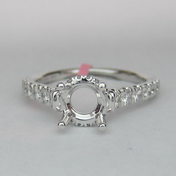 0.52CT Diamond Engagement Ring In 14KT White Gold - IDJ014691