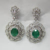 10.60 CT Emerald and Diamond Earrings F SI 18K White Gold -IDJ014747